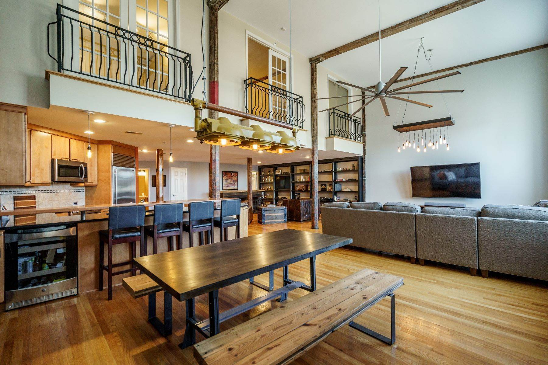 Single Family Homes for Sale at Large Industrial Loft in The Cotton Mill 614 Capital Boulevard Unit 225 Raleigh, North Carolina 27603 United States