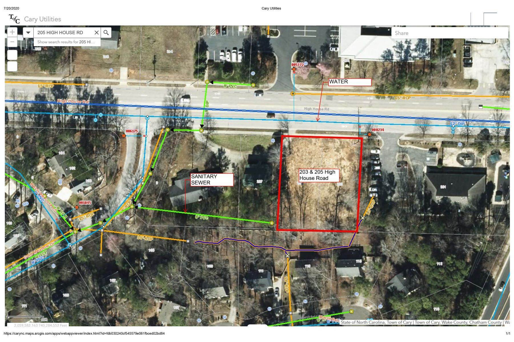 5. Land for Sale at 203 High House Rd. Cary, NC 203 High House Rd. Cary, North Carolina 27513 United States