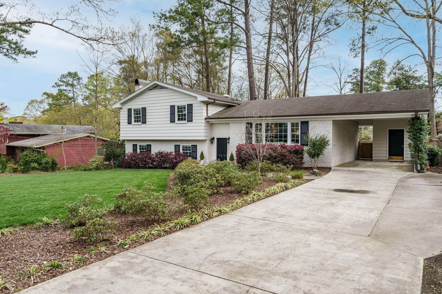 3. Single Family Homes for Sale at Wonderfully Updated North Hills Split Level 4512 Pamlico Drive Raleigh, North Carolina 27612 United States