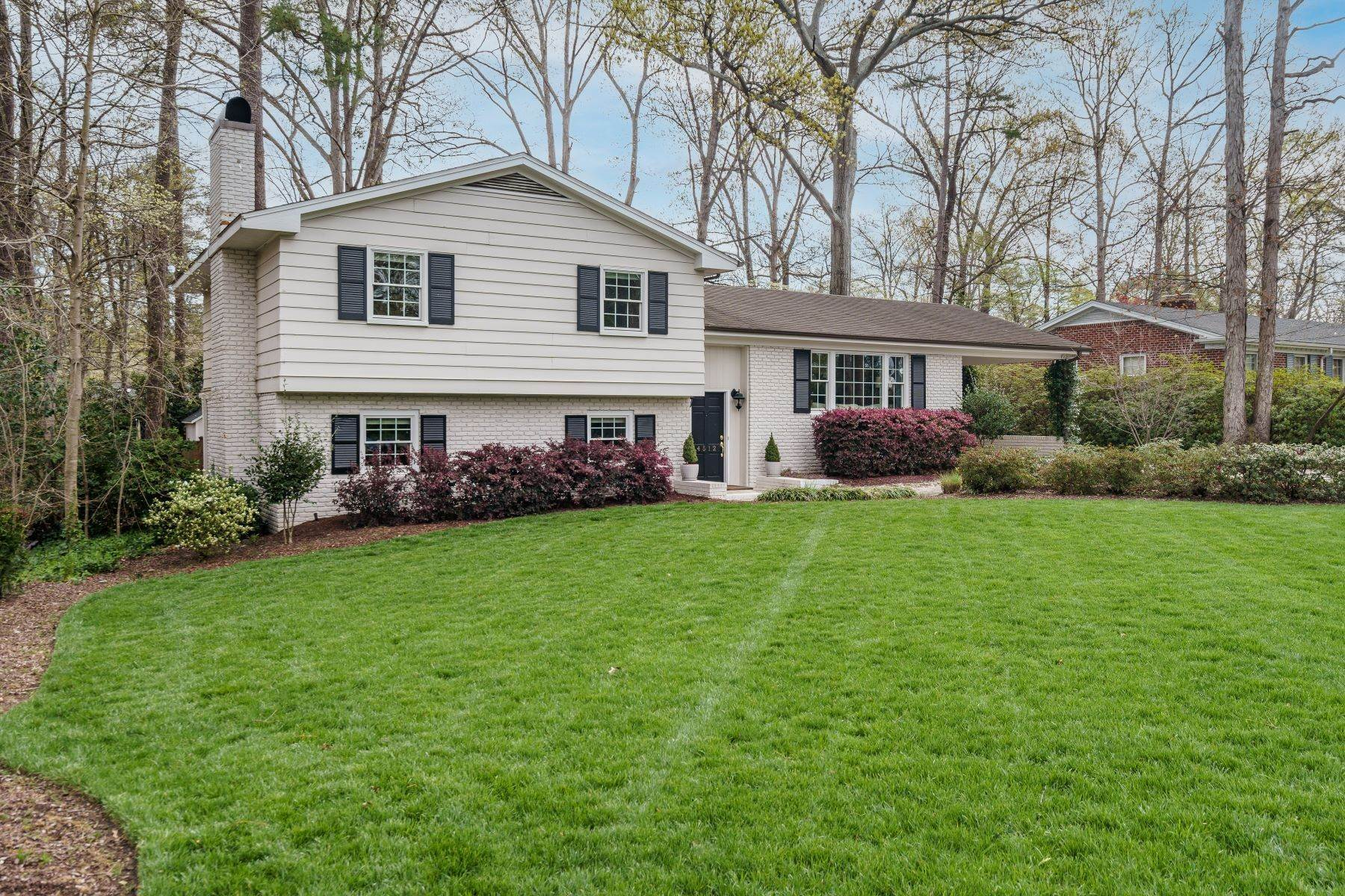 2. Single Family Homes for Sale at Wonderfully Updated North Hills Split Level 4512 Pamlico Drive Raleigh, North Carolina 27612 United States