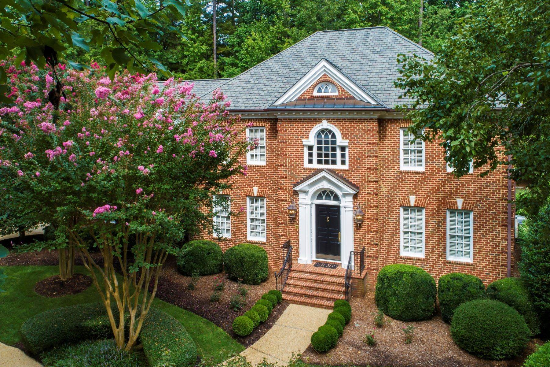 Single Family Homes for Sale at Elegant, Custom-Built Residence with Abundant Amenities 106 Symphony Court Cary, North Carolina 27518 United States